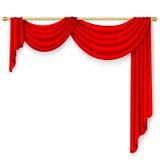 Röd gardin Fotografering för Bildbyråer