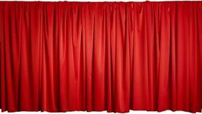 Röd gardin Arkivbilder