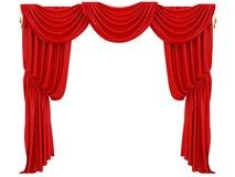 Röd gardin av en teater royaltyfri illustrationer