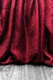Röd gardin för Grunge Royaltyfri Bild