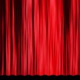 Röd gardin för tappning Arkivfoton