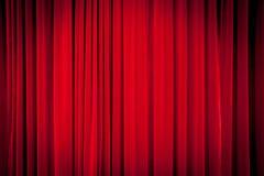 Röd gardinbakgrund Royaltyfri Fotografi