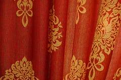 Röd gardinbakgrund Fotografering för Bildbyråer