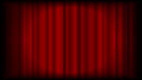Röd gardinbakgrund för vektor från teater eller ceremoni med ligh Royaltyfri Bild