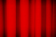 Röd gardinbakgrundstextur Royaltyfri Foto