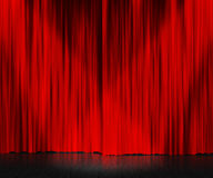 Röd gardinetappbakgrund Arkivfoton