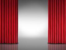 Röd gardinunderhållningbakgrund Royaltyfri Bild