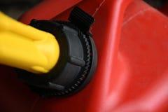Röd gas kan stänga sig upp Royaltyfri Fotografi