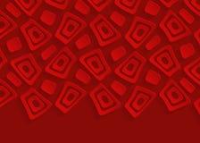 Röd geometrisk bakgrund för modellpappersabstrakt begrepp Arkivbilder