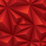 Röd geometrisk bakgrund. polygonal bakgrund. Royaltyfri Foto