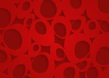 Röd geometrisk pappersabstrakt begreppbakgrund Royaltyfri Bild