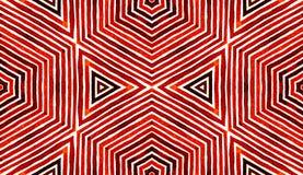 Röd geometrisk vattenfärg för vin Underhållande sömlös modell Hand drog band Borstetextur fint vektor illustrationer