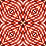 Röd geometrisk vattenfärg seamless gullig modell Hand drog band Borstetextur Outplånliga Chevr royaltyfria bilder