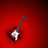 Röd gitarr Arkivfoto