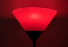 Röd glödande lampa fotografering för bildbyråer