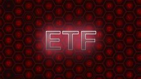 Röd glödande text på bitcoin och alt myntar sexhörningssymbolbakgrund vektor illustrationer