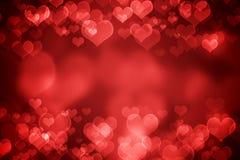 Röd glödande valentin dagbakgrund stock illustrationer