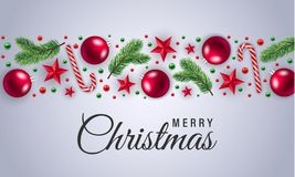 Röd glad jul klumpa ihop sig begreppsbakgrund, realistisk stil stock illustrationer