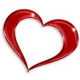 Röd glansig hjärta Royaltyfri Foto