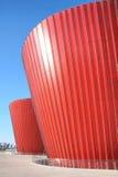 Röd glass byggnad Royaltyfria Foton