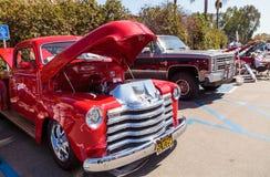 Röd GM 1951 1500 Royaltyfria Bilder