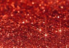 Röd gnistrandebakgrund Royaltyfri Bild