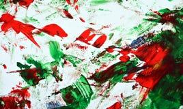 Röd grön blå vit suddig målningvattenfärgbakgrund, abstrakt måla vattenfärgbakgrund royaltyfri foto