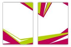 Röd grön geometrisk ljus reklambladbakgrund Royaltyfri Fotografi