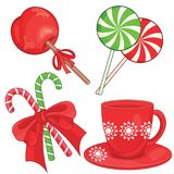 Röd grön godis för julsötsaker Royaltyfri Fotografi