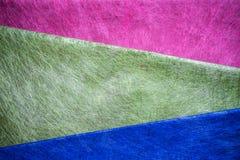 röd, grön och blå fibertextur Arkivfoto