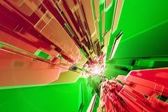Röd-Grön Tech Royaltyfri Illustrationer
