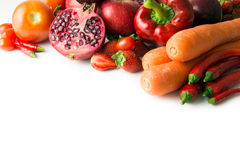 Röd grönsak och frukt Arkivfoto
