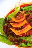 Röd grönsallat för rad för melon för vinter för rad för fega vingar för nötköttrad Arkivfoto