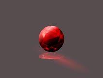 Röd granatrött Fotografering för Bildbyråer