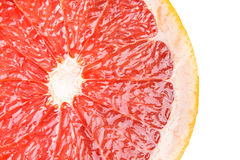 Röd grapefruktskiva Royaltyfria Foton