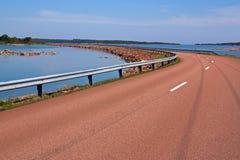Röd grov asfaltbeläggning Royaltyfri Fotografi
