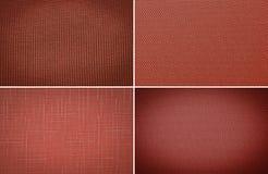 Röd grov kanfasbakgrund Fotografering för Bildbyråer
