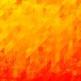 Röd grunge för triangel Arkivfoto