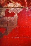 Röd Grungetextur av den korniga väggen abstrakt bakgrundsred Royaltyfria Foton
