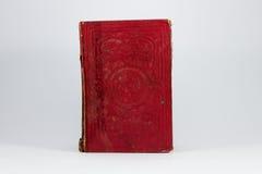 Röd grungy bok Arkivfoto