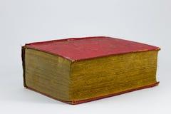 Röd grungy bok Arkivfoton