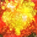 Glödande abstrakt bakgrund för hjärta med cirklar Royaltyfri Fotografi