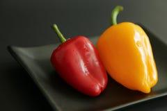 Röd gul söt peppar Arkivfoto