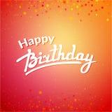 Röd hälsningcardon för lycklig födelsedag Arkivbild