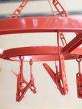 Röd hängare Arkivfoton