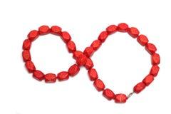 Röd härlig halsband Fotografering för Bildbyråer