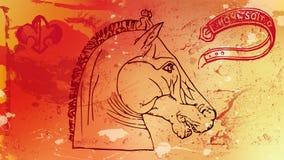 Röd häst Arkivbild