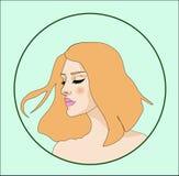 Röd-hår flicka Arkivfoton