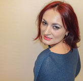 Röd hårskönhet Arkivbilder