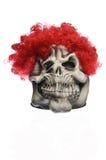 Röd hårspökemaskering Arkivbild
